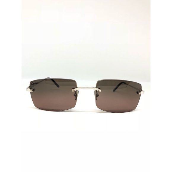 9c93ed8f57 Cartier Other - CARTIER C Decor Rimless Metal Sunglasses